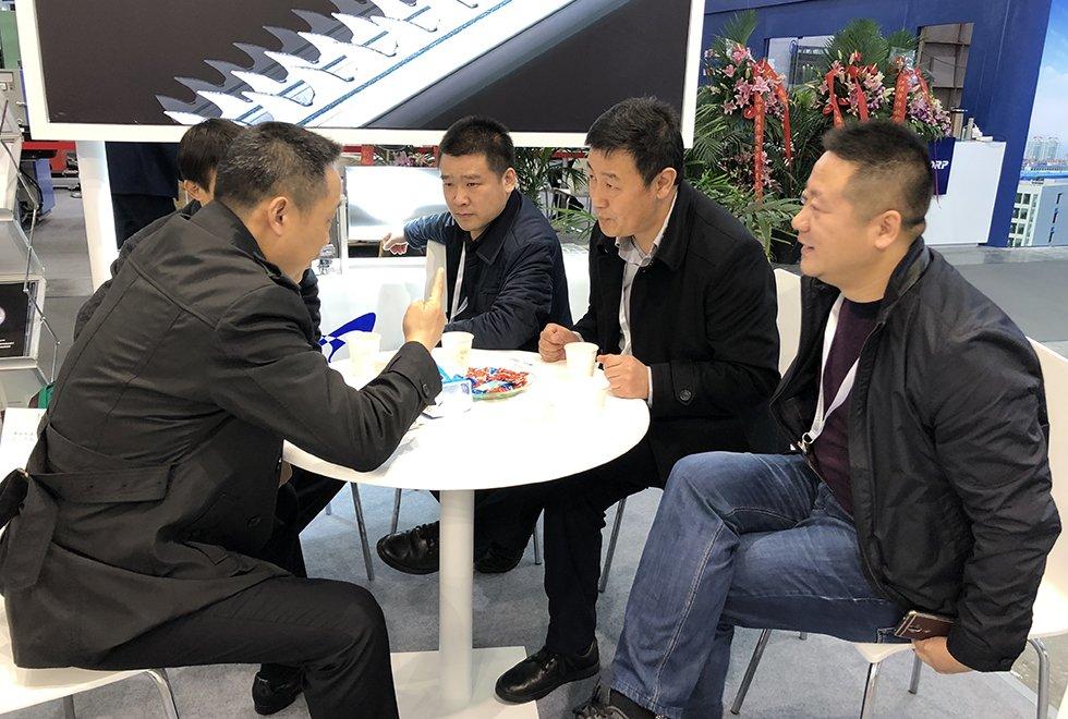 2017纺机展-亿祥+白鲨+鄂尔多斯三方会谈